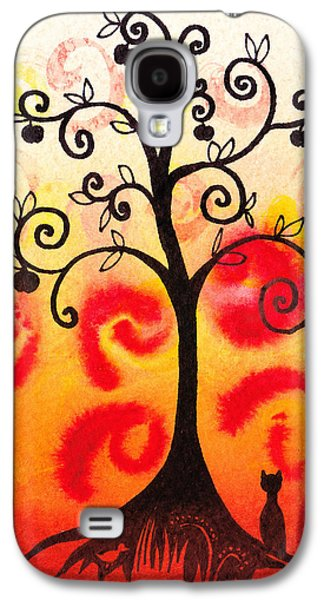 Bold Style Galaxy S4 Cases - Fun Tree Of Life Impression IV Galaxy S4 Case by Irina Sztukowski
