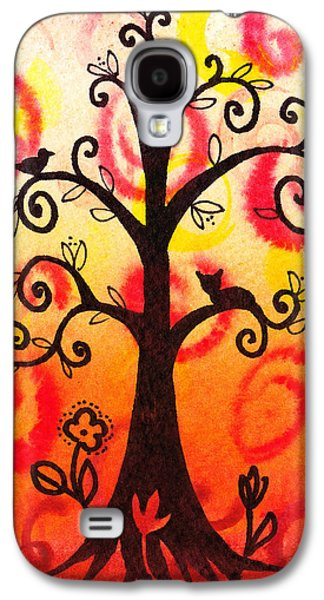 Bold Style Galaxy S4 Cases - Fun Tree Of Life Impression V Galaxy S4 Case by Irina Sztukowski