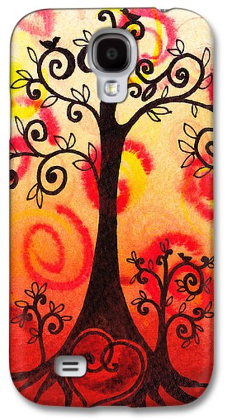 Modern Abstract Galaxy S4 Cases - Fun Tree Of Life Impression VI Galaxy S4 Case by Irina Sztukowski