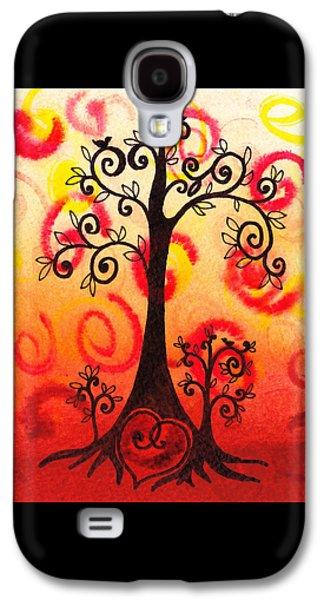 Rust Paintings Galaxy S4 Cases - Fun Tree Of Life Impression VI Galaxy S4 Case by Irina Sztukowski