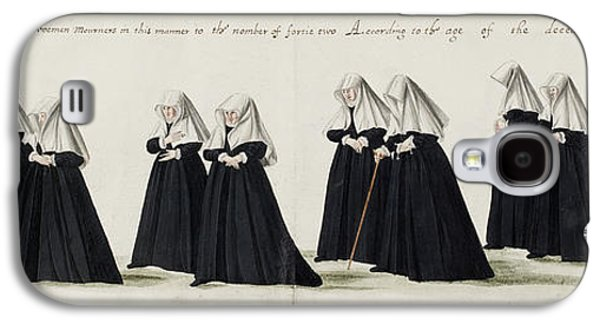 Funeral Procession Of Anne Of Cleves Galaxy S4 Case by British Library