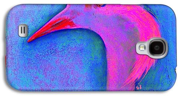 Demoiselles Galaxy S4 Cases - Funky Demoiselle Crane Bird Art Prints Galaxy S4 Case by Sue Jacobi
