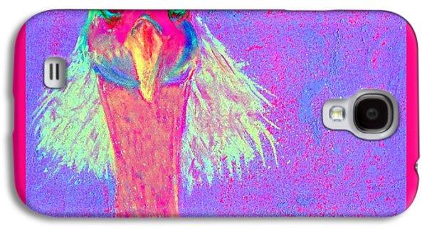 Demoiselles Galaxy S4 Cases - Funky Demoiselle Crane Bird Hair-do Art Prints Galaxy S4 Case by Sue Jacobi