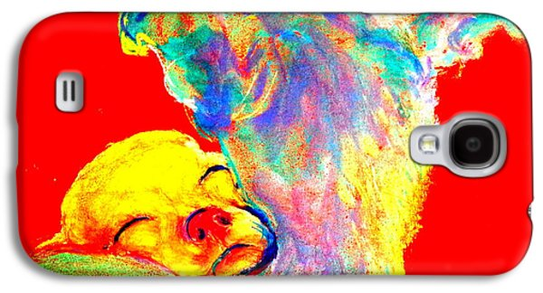 Puppies Galaxy S4 Cases - Funky Doggie and Puppy Dog Art Print Galaxy S4 Case by Sue Jacobi