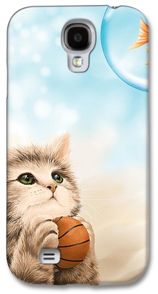 Basket Ball Game Galaxy S4 Cases - Funny games Galaxy S4 Case by Veronica Minozzi