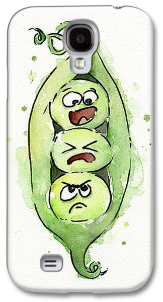 Pods Galaxy S4 Cases - Funny Peas in a Pod Galaxy S4 Case by Olga Shvartsur
