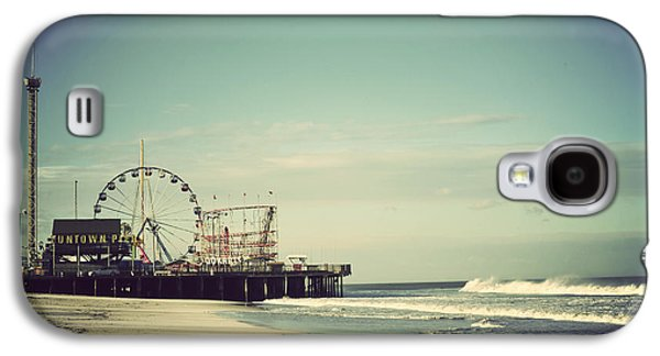 Photography Prints Galaxy S4 Cases - Funtown Pier Seaside Heights New Jersey Vintage Galaxy S4 Case by Terry DeLuco