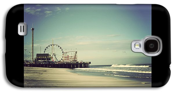 Beach Landscape Galaxy S4 Cases - Funtown Pier Seaside Heights New Jersey Vintage Galaxy S4 Case by Terry DeLuco