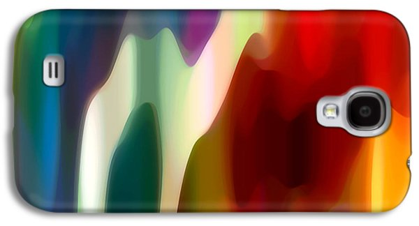 Sunset Abstract Digital Galaxy S4 Cases - Fury 1 Galaxy S4 Case by Amy Vangsgard
