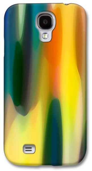 Abstract Digital Digital Galaxy S4 Cases - Fury Panoramic Vertical 1 Galaxy S4 Case by Amy Vangsgard