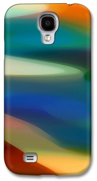 Abstract Digital Digital Galaxy S4 Cases - Fury Panoramic Vertical 3 Galaxy S4 Case by Amy Vangsgard
