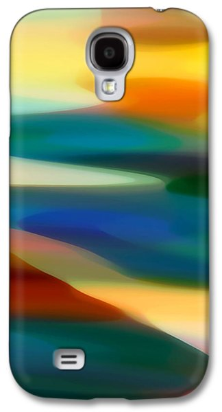 Sunset Abstract Galaxy S4 Cases - Fury Seascape 1 Galaxy S4 Case by Amy Vangsgard
