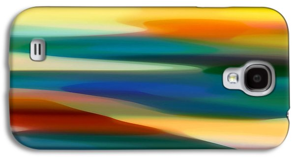 Colorful Abstract Digital Galaxy S4 Cases - Fury Seascape 7 Galaxy S4 Case by Amy Vangsgard