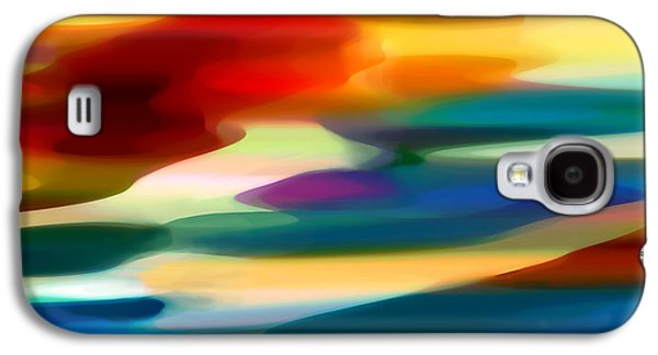 Sunset Abstract Digital Galaxy S4 Cases - Fury Seascape Galaxy S4 Case by Amy Vangsgard