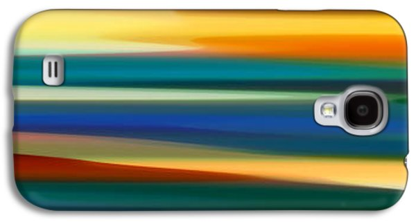 Abstract Nature Galaxy S4 Cases - Fury Seascape Panoramic 1 Galaxy S4 Case by Amy Vangsgard