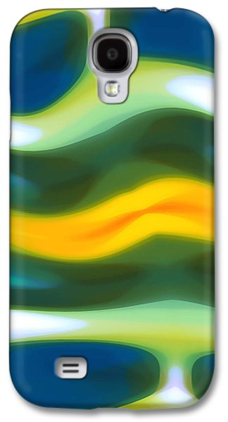 Abstract Seascape Digital Art Galaxy S4 Cases - Abstract Tide 3 Galaxy S4 Case by Amy Vangsgard