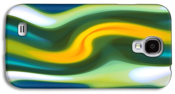 Abstract Forms Galaxy S4 Cases - Abstract Tide 6 Galaxy S4 Case by Amy Vangsgard