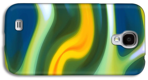 Nature Abstracts Galaxy S4 Cases - Abstracy Tide 8 Galaxy S4 Case by Amy Vangsgard