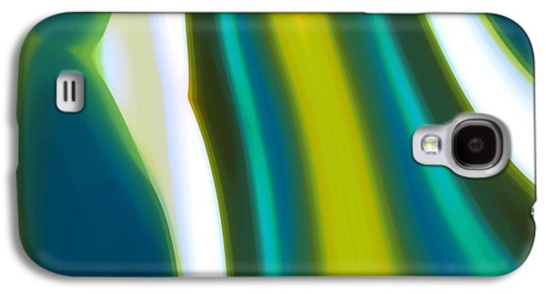 Nature Abstract Galaxy S4 Cases - Abstract Tide 9 Galaxy S4 Case by Amy Vangsgard