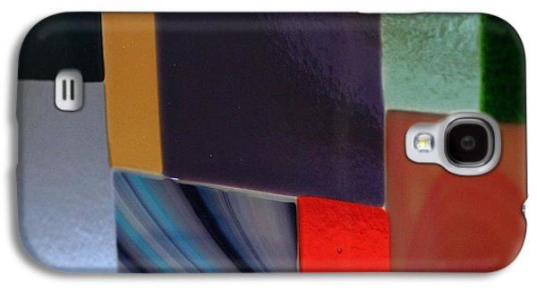 Original Art Glass Art Galaxy S4 Cases - Fused glass collage Galaxy S4 Case by Marsha Painter