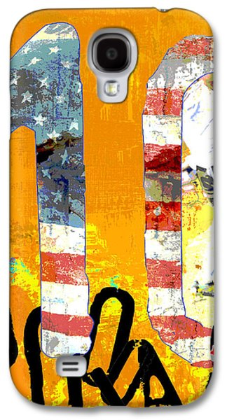 Red White And Blue Mixed Media Galaxy S4 Cases - Futbol Soccer Usa World Cup Galaxy S4 Case by ArtyZen Studios - ArtyZen Home
