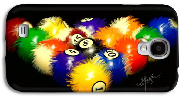 Recently Sold -  - Dogs Digital Galaxy S4 Cases - Fuzzy Billiards Galaxy S4 Case by Chris Fraser