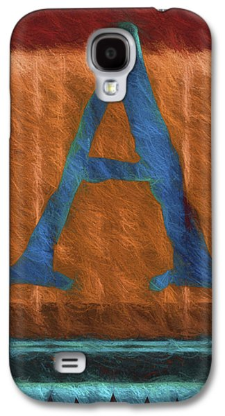 Fuzzy Letter A Galaxy S4 Case by Carol Leigh