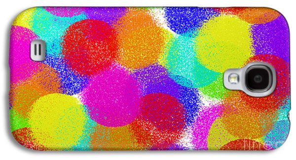 Youthful Galaxy S4 Cases - Fuzzy Polka Dots Galaxy S4 Case by Andee Design