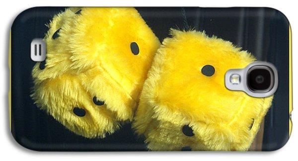 Fuzzy Yellow Dice Galaxy S4 Case by Barbara Snyder