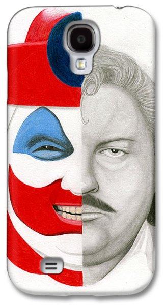 John Wayne Drawings Galaxy S4 Cases - Gacy the Clown Galaxy S4 Case by Kris Milo