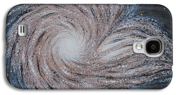 Constellations Paintings Galaxy S4 Cases - Galactic Amazing Dance Galaxy S4 Case by Georgeta  Blanaru