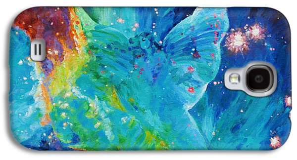 Receive Paintings Galaxy S4 Cases - Galactic Angel Galaxy S4 Case by Julie Turner