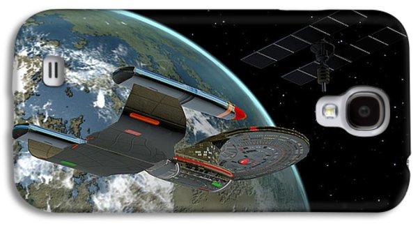 Jet Star Galaxy S4 Cases - Galaxy Class Star Cruiser Galaxy S4 Case by Corey Ford