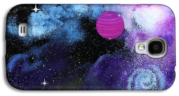 Outer Space Glass Art Galaxy S4 Cases - Galaxy Galaxy S4 Case by Wolfgang Finger