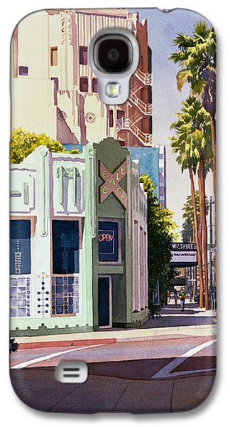 Los Angeles Paintings Galaxy S4 Cases - Gale Cafe on Wilshire Blvd Los Angeles Galaxy S4 Case by Mary Helmreich