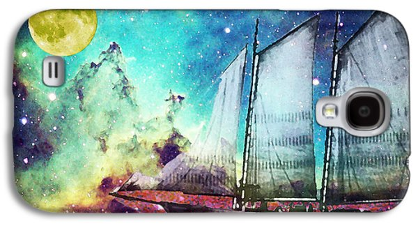 Galileo's Dream - Schooner Art By Sharon Cummings Galaxy S4 Case by Sharon Cummings