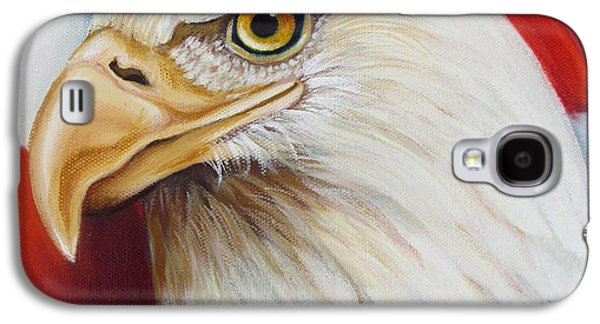 4th July Paintings Galaxy S4 Cases - Gallantly Streaming-5 Galaxy S4 Case by Jean R Brown - J Brown