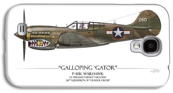 Fighters Digital Art Galaxy S4 Cases - Galloping Gator P-40K Warhawk Galaxy S4 Case by Craig Tinder