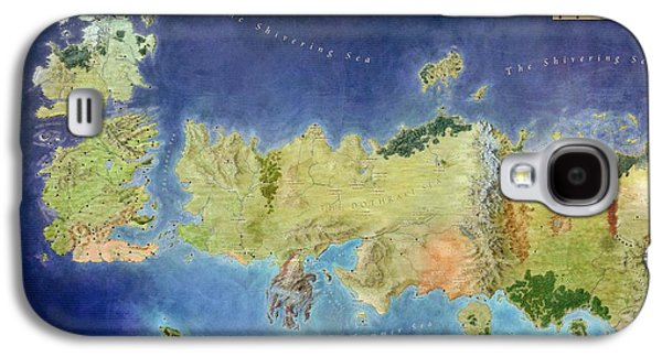 Digital Galaxy S4 Cases - Game of Thrones World Map Galaxy S4 Case by Gianfranco Weiss