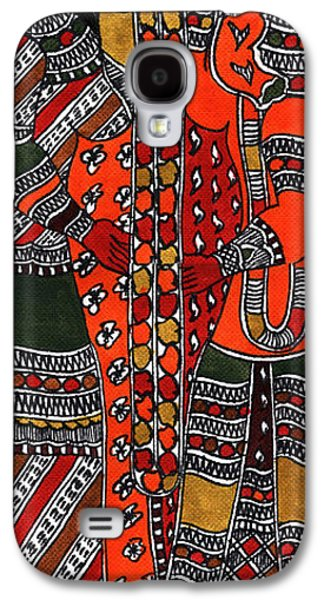 Indian Tapestries - Textiles Galaxy S4 Cases - Ganapati Viwah Galaxy S4 Case by Malini Devi
