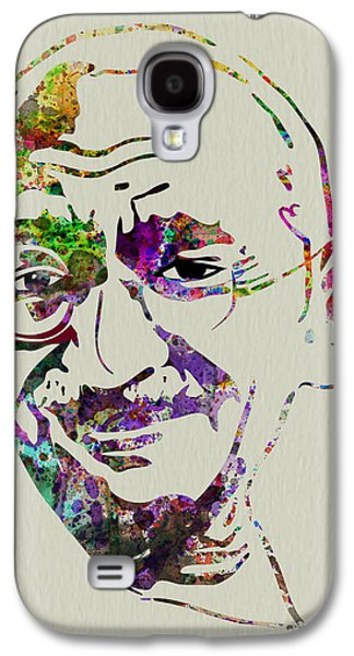 Civil Rights Galaxy S4 Cases - Gandhi Watercolor Galaxy S4 Case by Naxart Studio