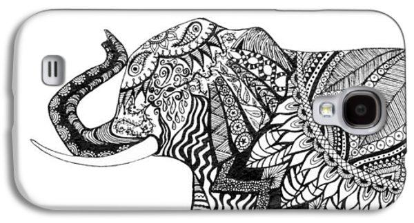 Indian Ink Galaxy S4 Cases - Ganesha Galaxy S4 Case by Alexandra Nicole Newton