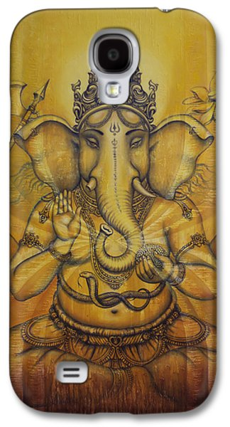 Ganesha Darshan Galaxy S4 Case by Vrindavan Das
