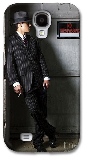 The Godfather Galaxy S4 Cases - Gangster in the Shadows Galaxy S4 Case by Diane Diederich