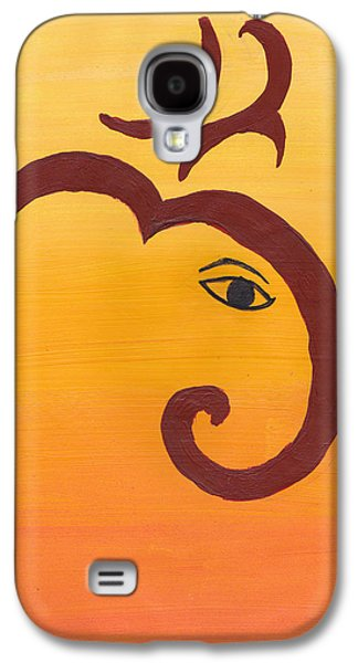 Recently Sold -  - Sunset Abstract Galaxy S4 Cases - Ganpati- OM Galaxy S4 Case by Melissa Vijay Bharwani