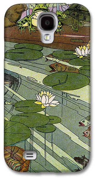 Etc. Digital Art Galaxy S4 Cases - Garada Clark Riley Living Pond with Frog Turtle Lily Pads Fish Crawfish Mouse Snail Lizard etc Galaxy S4 Case by Pierpont Bay Archives
