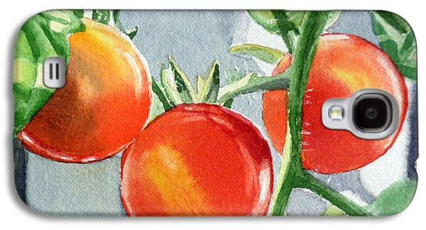 Garden Cherry Tomatoes  Galaxy S4 Case by Irina Sztukowski