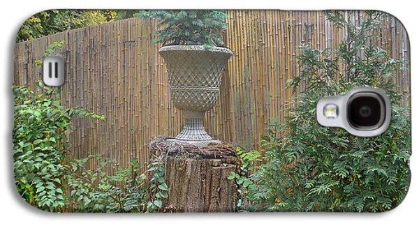 Bamboo Fence Galaxy S4 Cases - Garden Decor 2 Galaxy S4 Case by Muriel Levison Goodwin