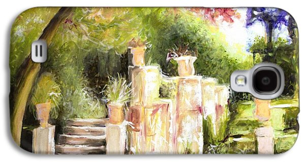 Sunlight On Pots Paintings Galaxy S4 Cases - Garden Entrance Galaxy S4 Case by Melissa Herrin