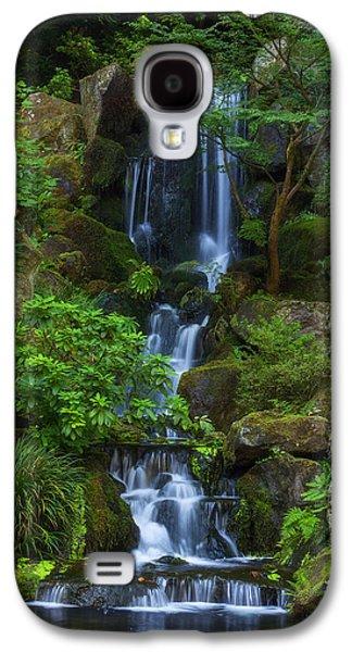 Landscape Acrylic Prints Galaxy S4 Cases - Garden Falls Galaxy S4 Case by Darren  White
